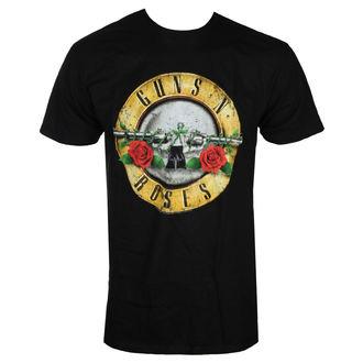 t-shirt metal men's Guns N' Roses - DISTRESSED BULLET - BRAVADO, BRAVADO, Guns N' Roses