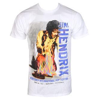 t-shirt metal men's Jimi Hendrix - RAINBOW GUITAR FIRE - BRAVADO, BRAVADO, Jimi Hendrix