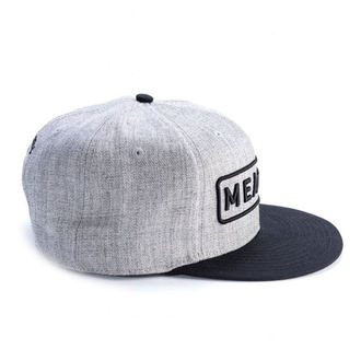 Cap MEATFLY - SPON SNAPBACK D - GREY HEATHER / BLACK, MEATFLY
