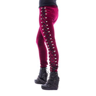 Women's trousers (leggings) CHEMICAL BLACK - BEETLE - RED, CHEMICAL BLACK