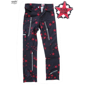 pants men Black Pistol - Two Leg Pants Stars - Black / Red - B-1-26-322-04