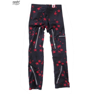 pants men Black Pistol - Two Leg Pants Stars - Black / Red - B-1-26-322-04