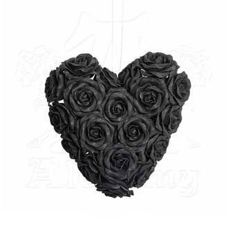 Decoration ALCHEMY GOTHIC - Black Rose Heart, ALCHEMY GOTHIC