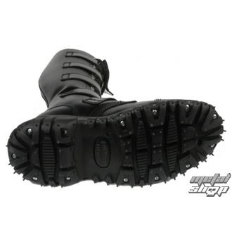 leather boots women's - 5-buckles leder - BONDAGE LONDON - ČERNÉ