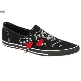 low sneakers women's - Little Girl Skully - DRAVEN - MCDR 039, DRAVEN