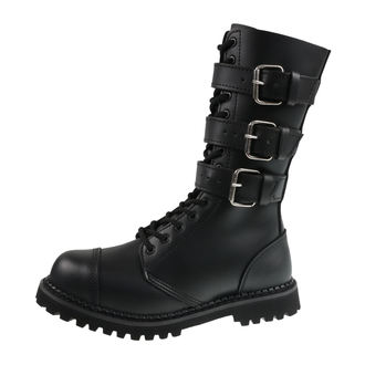 leather boots unisex - BRANDIT - 9005-black