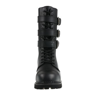 leather boots unisex - Phantom Boots with Buckle - BRANDIT, BRANDIT