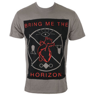 t-shirt men Bring Me The Horizon - HEARTS & SYMBOLS - GRY - BRAVADO, BRAVADO, Bring Me The Horizon