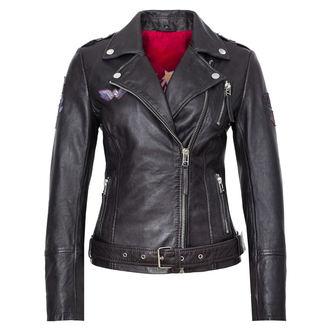 Women's Leather Jacket WONDER WOMAN - DARK ANTRACITE