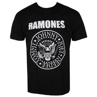 tričko pánské RAMONES - CREST - BLACK - LIVE NATION, LIVE NATION, Ramones