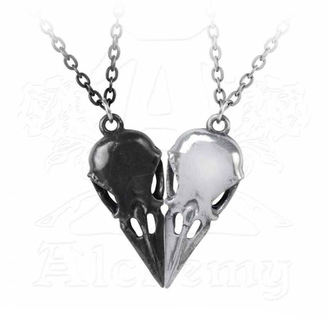 Set of two pendant collars ALCHEMY GOTHIC - Coeur Crane