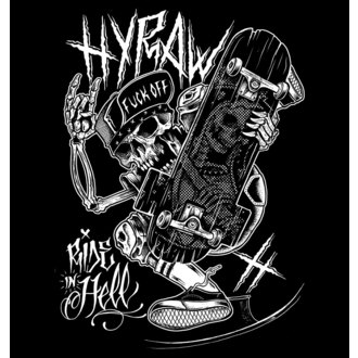 t-shirt hardcore men's - RIDE IN HELL - HYRAW
