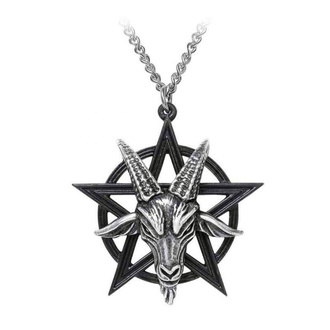 Pendant necklace ALCHEMY GOTHIC - Baphomet - Pewter - P906