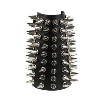 bracelet spikes 9, BLACK & METAL