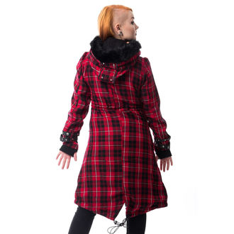 coat women's POIZEN INDUSTRIES - DARE - RED CHECK, POIZEN INDUSTRIES