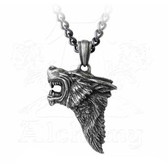 Pendant Necklace ALCHEMY GOTHIC - Dark Wolf, ALCHEMY GOTHIC