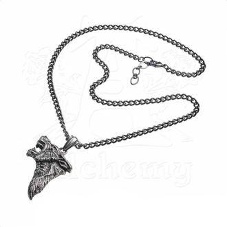 Pendant Necklace ALCHEMY GOTHIC - Dark Wolf, ALCHEMY GOTHIC
