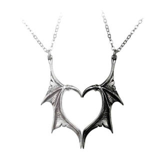 Pendant necklace ALCHEMY GOTHIC - Darkling Heart, ALCHEMY GOTHIC