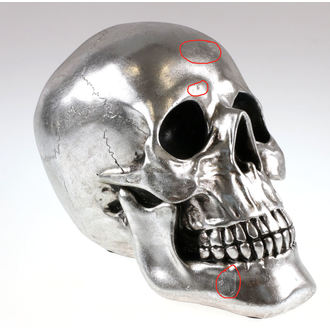 decoration Skull - Silver - 78/5742 - DAMAGED