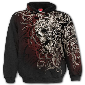 hoodie men's - SKULL SHOULDER WRAP - SPIRAL - W033M459