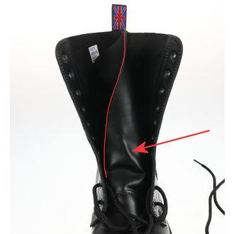 boots NEVERMIND - 10 eyelet - Black Polido - DAMAGED, NEVERMIND