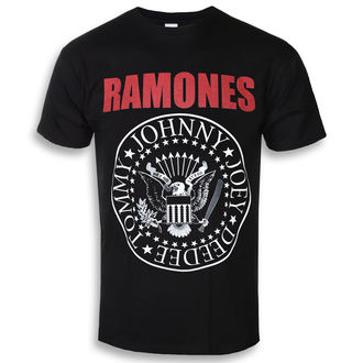 t-shirt metal men's Ramones - RED TEXT SEAL LOGO - PLASTIC HEAD, PLASTIC HEAD, Ramones