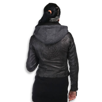 leather jacket women's AC-DC - Antracite - NNM, NNM, AC-DC