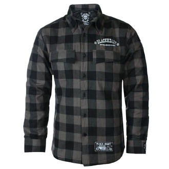 Men's shirt BLACK HEART - DUKE LINED - GREY, BLACK HEART