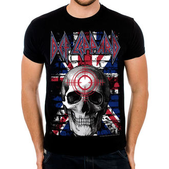 t-shirt metal men's Def Leppard - Union Jack Skull - HYBRIS, HYBRIS, Def Leppard