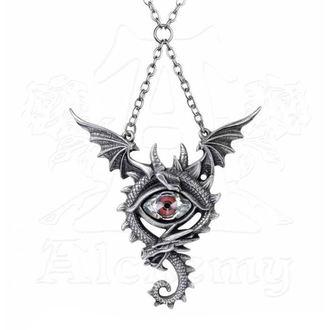 Pendant Necklace ALCHEMY GOTHIC - Eye Of The Dragon, ALCHEMY GOTHIC