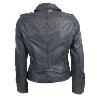 leather jacket women's Wonder Woman - GREY -