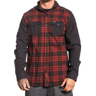 Shirt Men's  SULLEN - FLINT - BLACK / RED, SULLEN