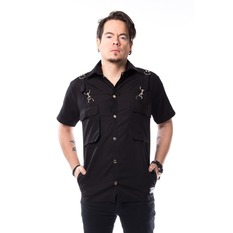 Shirt Men VIXXSIN - HENRIK - BLACK, VIXXSIN