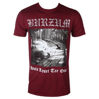 t-shirt metal men's Burzum - HVIS LYSET TAR OSS (MAROON) - PLASTIC HEAD - PH10854