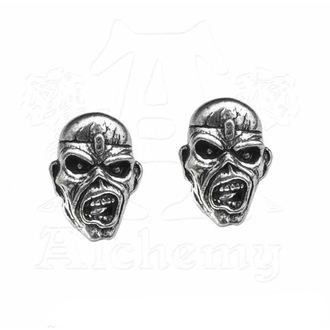 Earrings Iron Maiden - Eddie Head - ALCHEMY GOTHIC, ALCHEMY GOTHIC, Iron Maiden