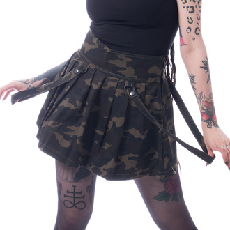 Women's skirt HEARTLESS - JANICE - GREEN CAMO - POI821