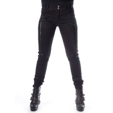 Trousers Women Chemical black - JENNA - BLACK, CHEMICAL BLACK