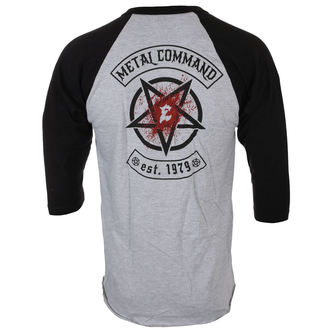 t-shirt men with 3/4 long sleeves EXODUS - METAL COMMAND - GREY / BLK - JSR, Just Say Rock, Exodus