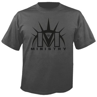 t-shirt metal men's Ministry - Logo GREY - NUCLEAR BLAST, NUCLEAR BLAST, Ministry