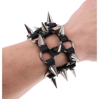 bracelet SPIKES 2 - Black, JM LEATHER