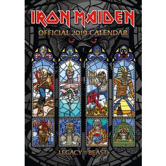 Calendar for year 2019 IRON MAIDEN, NNM, Iron Maiden