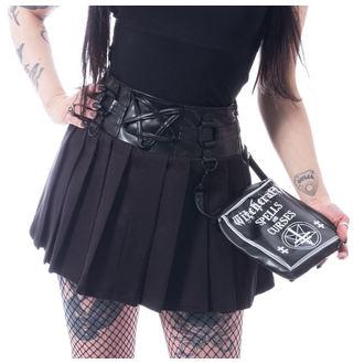Women's skirt  HEARTLESS - PENTAGRAM - BLACK, HEARTLESS