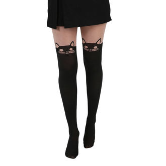Women's tights PAMELA MANN - Kitty Cat OTK - Blk, PAMELA MANN