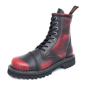 leather boots - KMM - Black/Red - 080