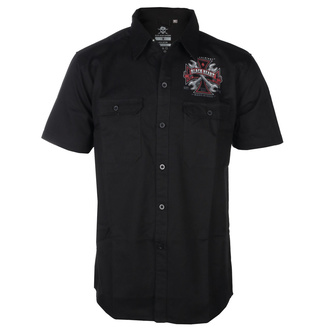 Men's shirt BLACK HEART- REPAIRMAN - BLACK - 008-0021-BLK