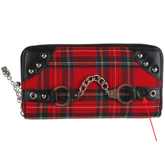 wallet BANNED - Red / Tartan - DAMAGED, BANNED