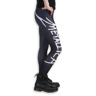 Women's pants (leggings) - Metallica - Logo - Black / White, PAMELA MANN