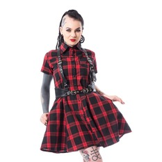 Dress Women Heartless - LOVISA - RED CHECK, HEARTLESS