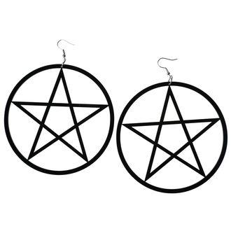 Earrings Luciferothica - Huge Pentagram, LUCIFEROTHICA