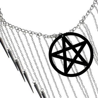 Necklace Luciferothica - Pentagram Black, LUCIFEROTHICA